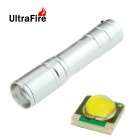 UltraFire H-01 1-LED 500lm 5-Mode Zooming White Flashlight - Silver (1 x 18650)