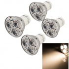 YouOkLight GU10 3W Spotlight Bulb Warm White 3500K 240lm 3-LED (AC85~265V/4 PCS)