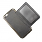 MO.MAT Protective TPU & Leather Wallet Case for IPHONE 6 - Black