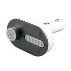 Car Bluetooth Hands-free Speaker FM Transmitter and Car Charger - Grey
