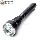 ZHISHUNJIA M18-3T6 XM-L2 T6  3-LED 2200lm 5-Mode White Light Tactical Flashlight - Black (2 x 18650)