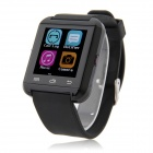 "MOWTO U8-T 1.44"" OLED Bluetooth V4.1 Smart Watch for iOS & Android Phones - Black"