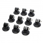 Tripod Mount Adapter for GoPro Hero 4/2 /3 / 3+ / SJ4000 / SJ5000 / Xiaomi Xiaoyi - Black (10 PCS)