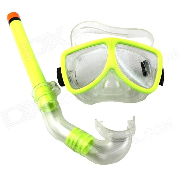 Diving Goggles Breathing Tube Set Snorkeling Swimming Glasses - Green