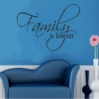 "Wall Decals ""Family is Forever"" English Words & Quotes PVC Wall Stickers"