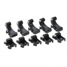 J-Hooks + Fast Assembling Mount Buckles for GoPro Hero 4/3/3+ / SJ5000 / SJ4000 / Xiaoyi - Black