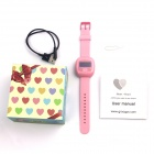 QR QR-01 Children Positioning Smart Watch w/ SOS, GPS, LBS - Pink