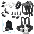 16-In-1 Accessories Kit for GoPro Hero 4 / Hero HD 3+ / 3 / 2 / 1 - Black