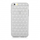 USAMS IP6GL01 Rhombus Pattern Protective TPU Back Case Cover for IPHONE 6 - Translucent Black
