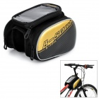 B-SOUL Waterproof Phone Bag + Front Tube Bag for Mountain Bike - Black + Gold