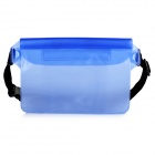 Outdoor Waterproof PVC Waist Bag - Blue
