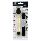 HJ-028 2-LED 2-Mode rojo luz de seguridad de advertencia - negro + rojo