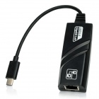 USB 3.1 tipo-c macho a RJ45 cable adaptador hembra Ethernet - negro