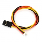 CCD FPV Camera Image Transmission OSD Connection Cable - Red + Yellow