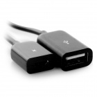 Micro USB to USB 2.0 OTG Charging Cable for Samsung S3 - Black (19cm)