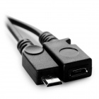 USB F a micro USB Cable M / F para samsung S3 / S4 / Note3 - negro (19cm)