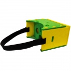Google Cardboard Virtual Reality 3D Glasses with Headband for 3.5-6 inch Cellphone - Green