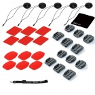 31-in-1 Sports Accessories Kit for GoPro Hero 4 3+ 3 2 1 - Black + Red