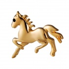 Xinguang Little Horse Shaped Elegant Brooch - Golden