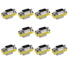 15-Pin VGA Male to VGA Male Mini Gender Changer Adapters (10PCS)