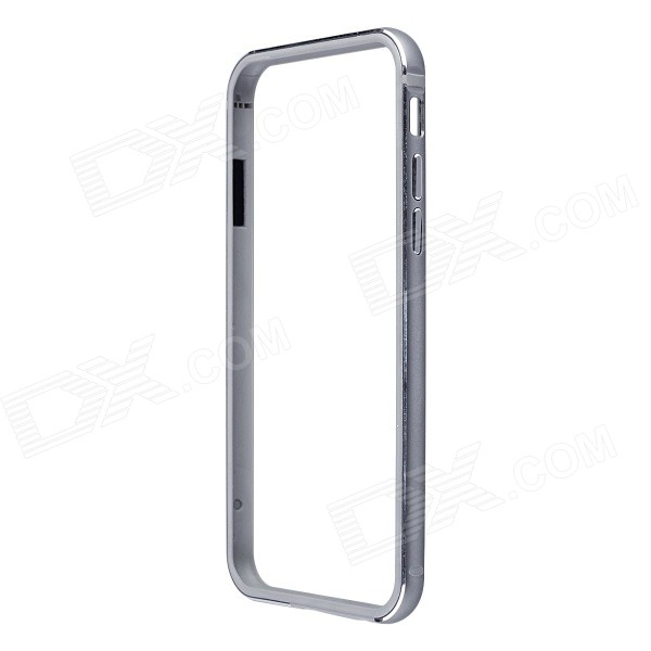 Ultrathin Aluminum + Silicone Bumper Frame Case for IPHONE 6 - Gray