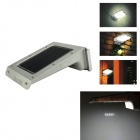 IN-Color 3-in-1 20-LED Outdoor Solar Lamp w/ Motion & Sound & Light Sensors - White + Silver