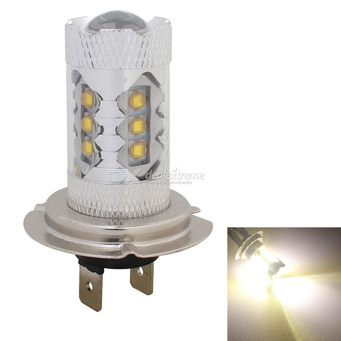 MZ H7 80W 5000K 4000lm 16-LED Car Front Fog Lamp w/ Constant Current