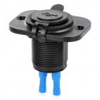 Universal Water Resistant Car Motorcycle 1A / 2.1A Dual-USB Charger Adapter for Cellphones