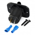Motorcycle 1A / 2.1A Dual-USB Charger Adapter for Cellphones - Black