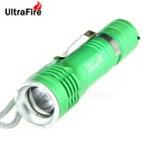 UltraFire XP-E Q5 1-LED 400lm 3-Mode White Zooming Flashlight - Green (1 x 18650)