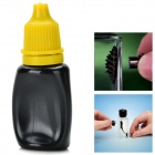 Creative Ferrofluid Display Bottle Toy w/ Dropper - Black + Yellow