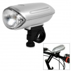 1 x Krypton Yellow Light + 2-LED White Bicycle Front Light - Silver + Black (4 x AA)