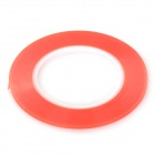 Transparent PET Double-sided Adhesive Tape - Red (4MM x 25M)