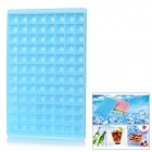 96-Compartment Big Rhinestone Style Ice Cube Tray Mold - Sky Blue