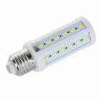 E27 7W LED Corn Lamp Cold White Light 850lm SMD 5730 - White + Silver