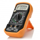"HYELEC MAS838 Digital 1.8"" LCD Multimeter w/ Manual Range, Temperature Measure - Black + Orange"