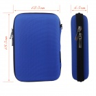 "Shockproof Data Storage Bag Case for 2.5"" Hard Disk Drive - Blue"