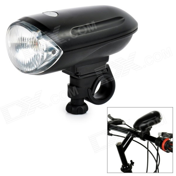 1*Krypton Yellow Light + 2-LED White Bicycle Front Light - Black
