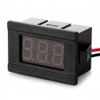"2-Wire 0.36"" 3-Digit LED 2.5~30V Digital Voltmeter - Black (Red Light)"