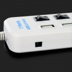 7-Port USB 2.0-hub m / USB 3.0-type c plugg / individuell switch - hvit
