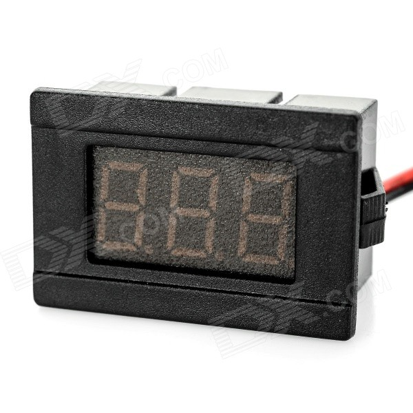 "2-Wire 0.36"" 3-Digit LED 3.0~30V Digital Voltmeter - Black (Blue Light)"