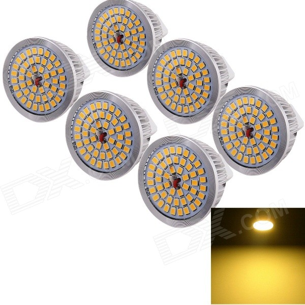 Youoklight MR16 6.5W LED spotlight lâmpada quente branco 3500K 580lm (6PCS)