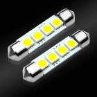 JIAWEN Festoon 41mm 0.8W Car Interior Dome Bulbs White 6500K 70lm SMD 5050 (DC 12V / 2 PCS)
