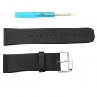PU Leather Classic Buckle Watch Strap Wristband Wrist Band for Apple Watch 42mm - Black