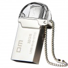 DM PD008 32GB USB2.0 OTG Flash Drive with Twin Connector for Smart Phone and Computer - Silver