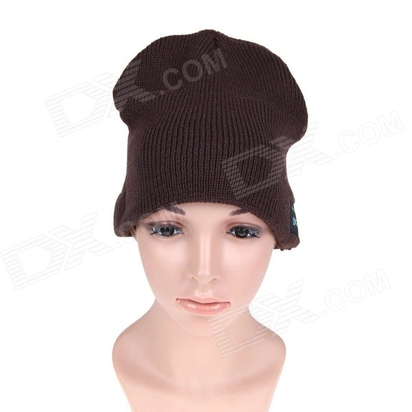 MZ010 Music Bluetooth Smart Hat Support Hand-free Calls - Dark Brown