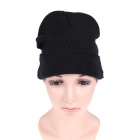 MZ013 Wireless Bluetooth Music Hands Free Calls Warm Hat Beanie Cap - Black