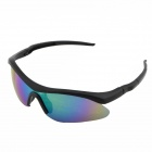 UV400 Protection PC Lens Outdoor Bike Cycling Sunglasses - Black