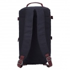 Outdoor Travel Canvas Backpack Single Shoulder Bag Handbag - Black