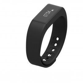 "I5 Plus 0.91"" Bluetooth Smart Watch Bracelet w/ Sports Tracker - Black"